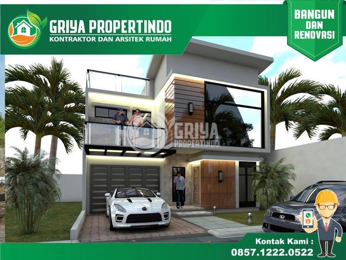Jasa Desain Rumah Minimalis 2 lantai Modern di Kota Solo
