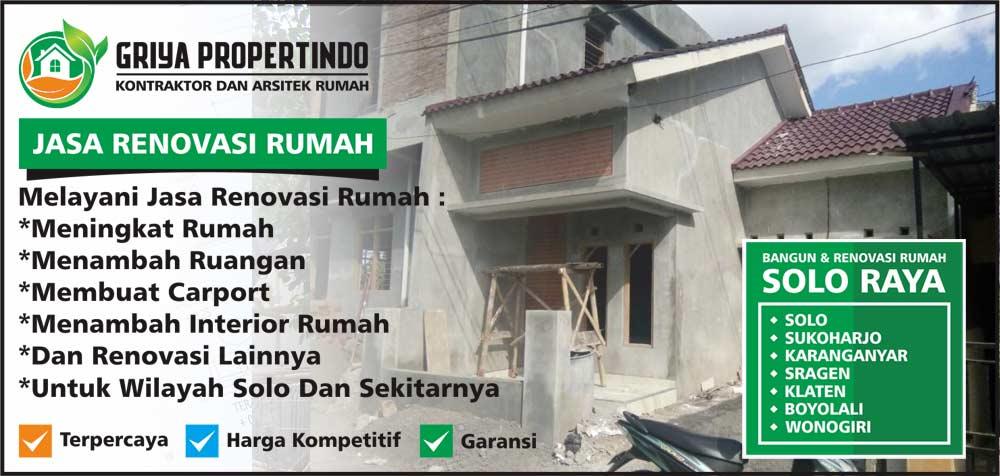 Renovasi Rumah Murah di Kota Solo