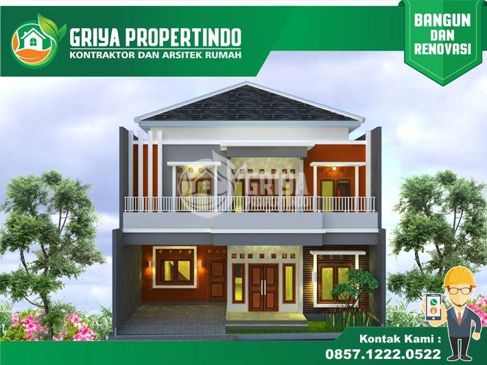 model desain rumah minimalis 2 lantai di solo