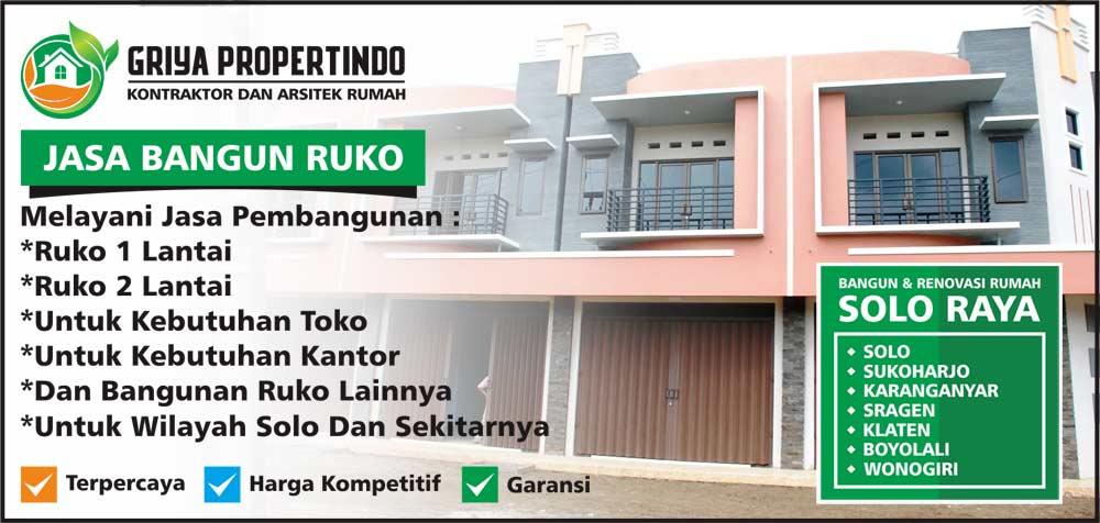 Biaya bangun ruko dan rumah 2 lantai di Solo Surakarta