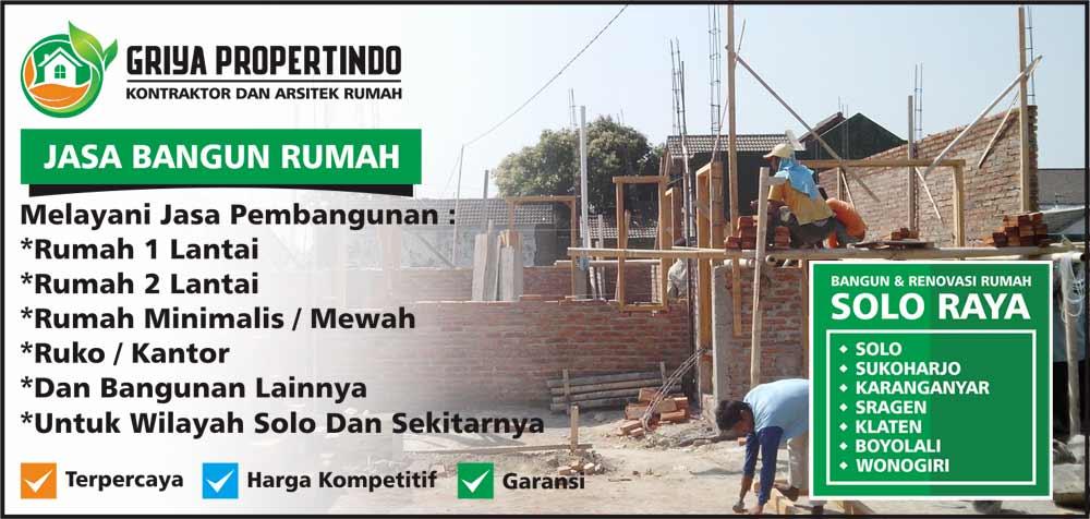 Jasa Kontraktor Borongan Rumah Murah di Kota Solo Surakarta