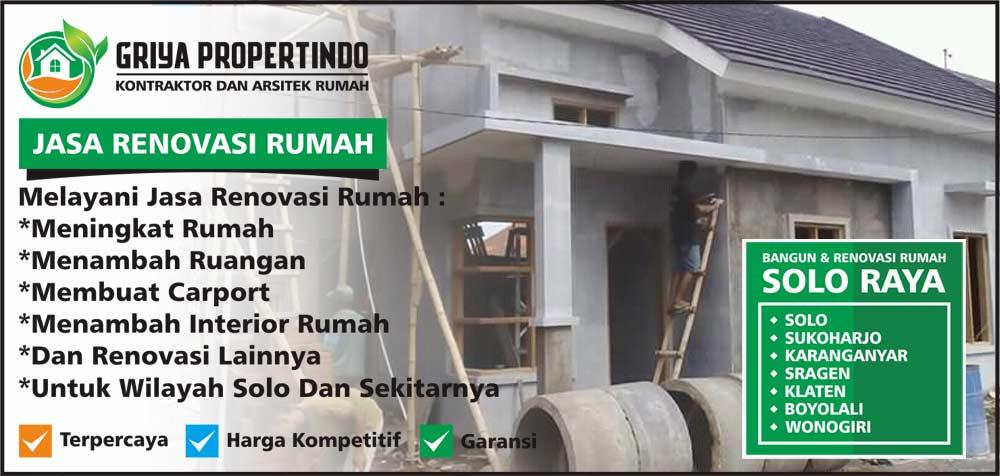 Jasa Tukang Renovasi Rumah Harga Murah di Solo Surakarta