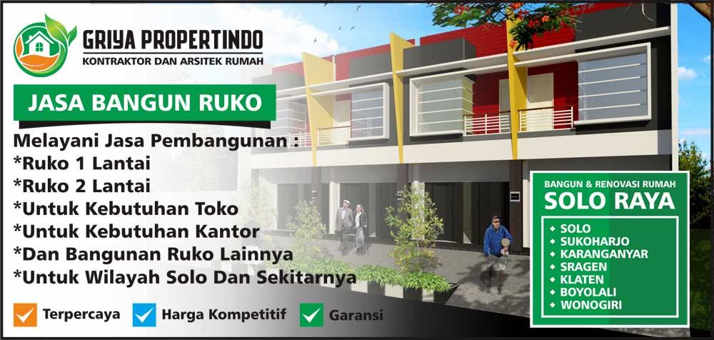 jasa Bangun Ruko murah Di Solo Surakarta