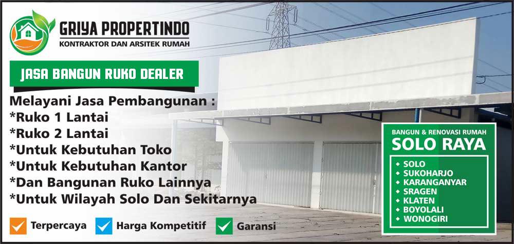 jasa kontraktor bangun dan renovasi dealer murah di area kota Solo