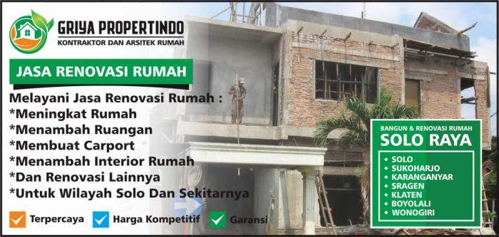 Borongan Renovasi Rumah Tingkat di Solo