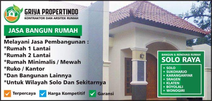 Jasa Borongan Bangun Rumah di SoloJasa Borongan Bangun Rumah di Solo 2019 Per Meter Persegi 2019 Per Meter Persegi